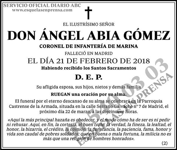 Ángel Abia Gómez